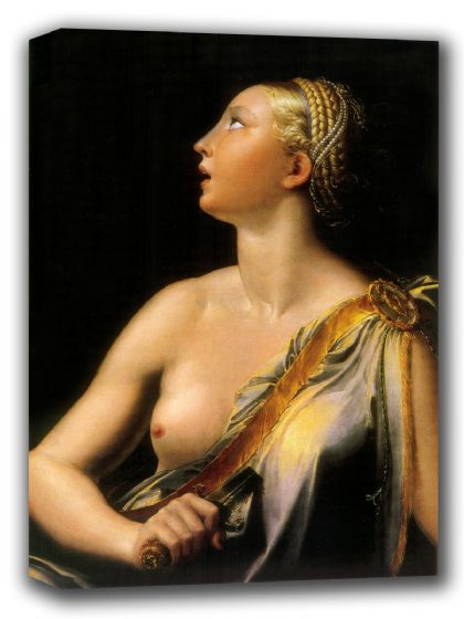Parmigianino (Francesco Mazzola): Lucretia. Fine Art Canvas. Sizes: A4/A3/A2/A1 (001987)